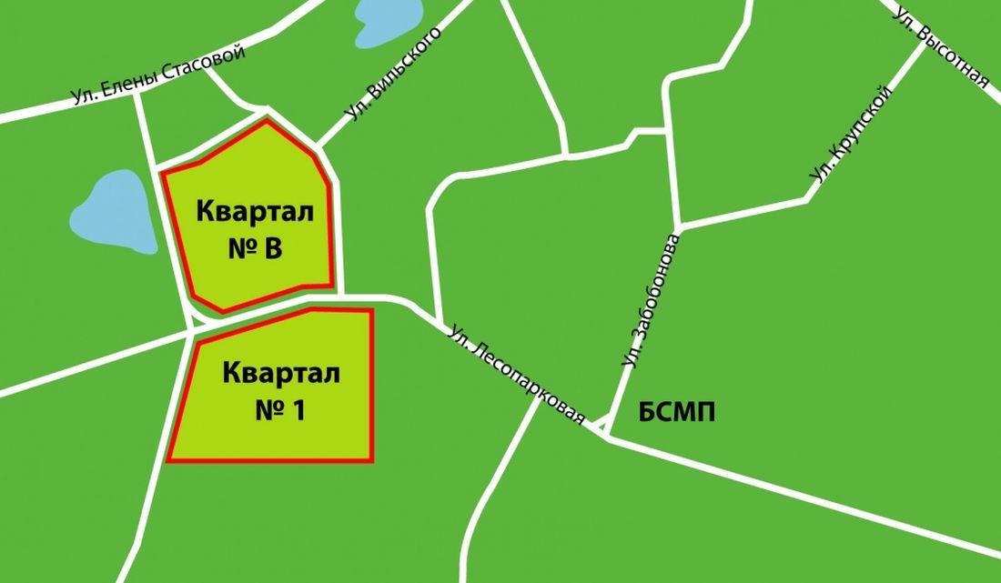 Серебряный Карта Кварталов